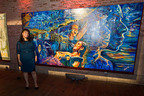Jose Cuervo Tradicional celebrates Adriana Garcia of San Antonio as the grand prize winner of the Tradicional Mural Project and awards local non-profit organization, Central Cultural Aztlan, both with $15,000.  (PRNewsFoto/Jose Cuervo Tradicional)