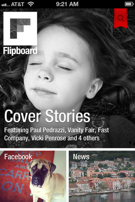 Flipboard for iPhone brings the news, updates and photos being shared across social networks into one place. And for when people are on the go, the new Cover Stories gives them a quick way to check some of the most interesting things happening at that moment. Download Flipboard for iPhone for free at www.flipboard.com.  (PRNewsFoto/Flipboard)