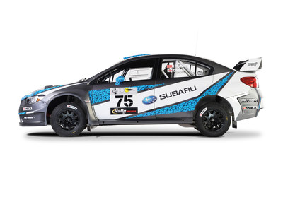 Subaru Rally Team debuts David Higgins' 2016 livery which features a nod to his homeland, the Isle of Man.