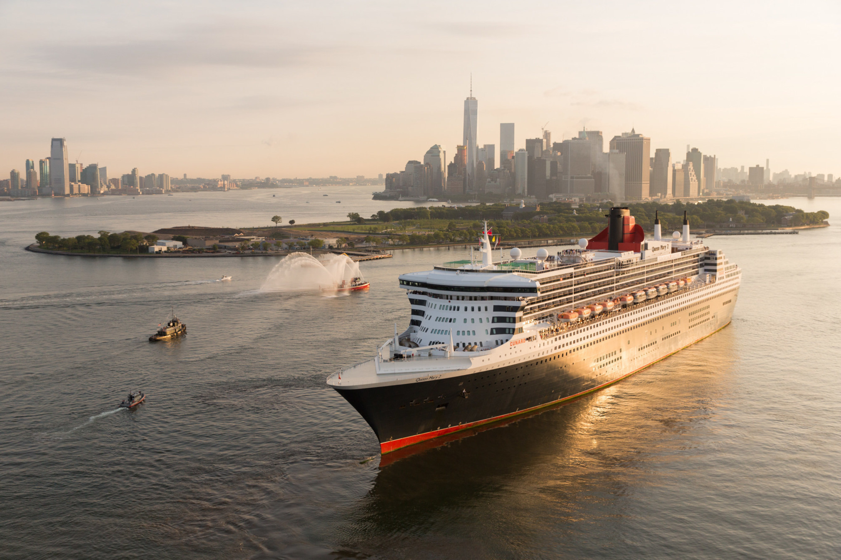 Queen Mary 2 in New York harbor. Photograph by Jonathan Atkin Photography (c)