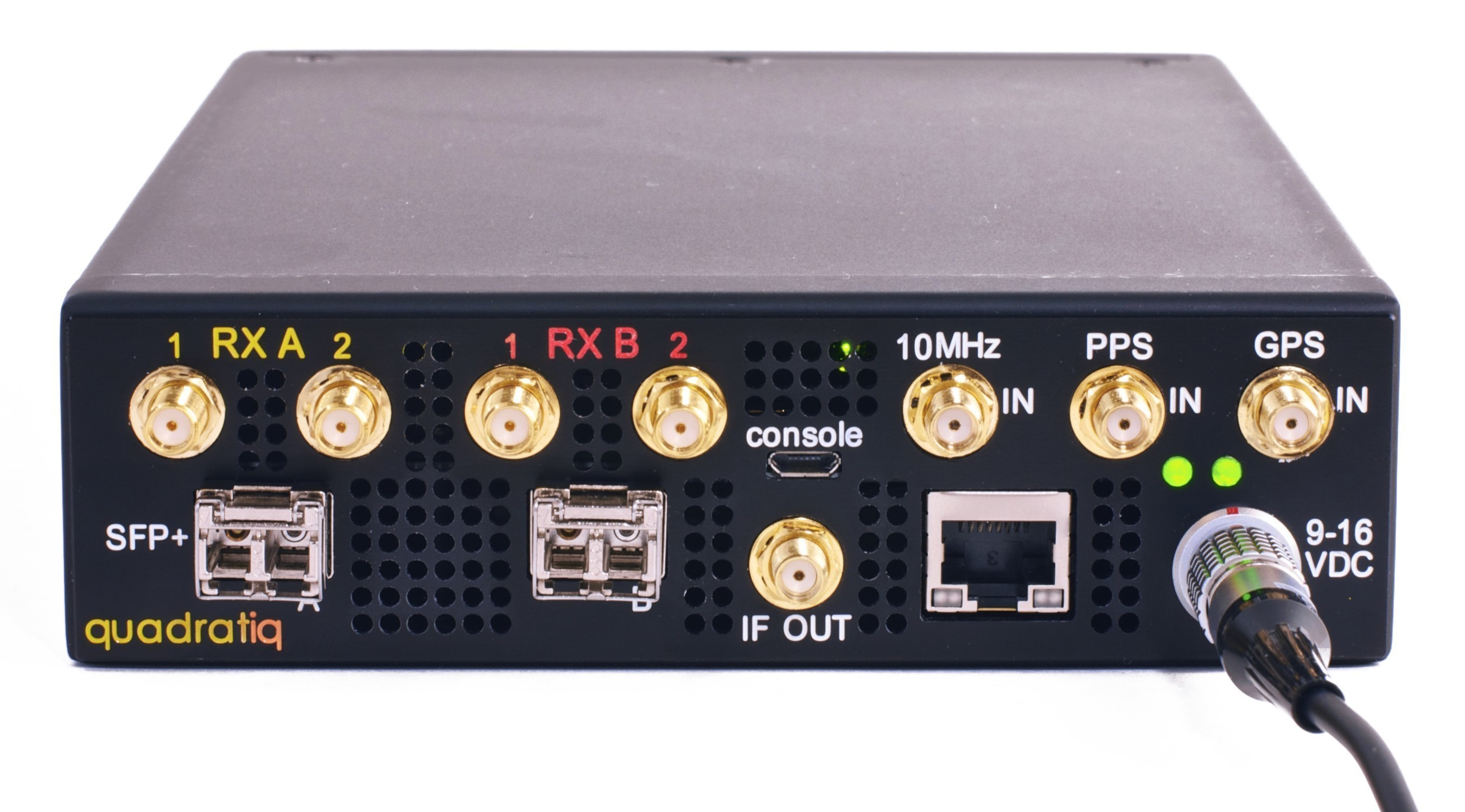 The Epiq Solutions Quadtratiq combines four RF receivers supporting VITA49 in to a small form factor platform, Quadratiq offers a wide RF tuning range, multiple high-speed external data interfaces, and web-server based user interface for simplifying usage.
