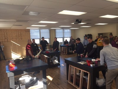 A training class at CPG University learns about AZEK and TimberTech's premium building materials and best in class applications.
