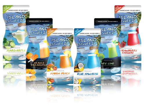 Phusion Projects, LLC announced the introduction of six new Island Squeeze flavors just in time for consumers' summer escapes including--Strawberry Daiquiri Light, Margarita Light, Blue Hawaiian Light, Mango Peach Light, Dreamsicle and Key Lime.  (PRNewsFoto/Phusion Projects, LLC)
