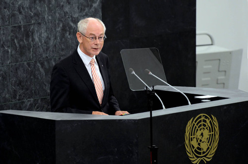 EU Newsbrief: Address by European Council President Van Rompuy to the UN General Assembly.  (PRNewsFoto/Delegation of the European Union to the United States)
