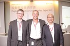 Microsoft PlugFest and Windows Server TechFest Taipei on March 24, 2015 in Taipei. The keynote speakers in the morning (from left to right) were Dr. Thomas Pfenning, Partner Director for Software Engineering Foundations in Microsoft's Enterprise Cloud Division; Chris Phillips, General Manager for Partner and Customer Ecosystems and Experiences for the Enterprise Cloud Group at Microsoft Corporation; and Sin Lew, Partner Director of Engineering, Enterprise Cloud Group