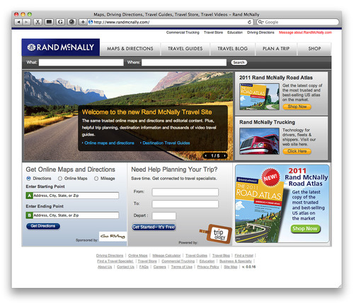 Rand McNally Re-launches www. RandMcNally.com