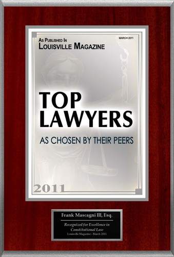 "Frank Mascagni III Selected For ""Top Lawyers.""  (PRNewsFoto/American Registry)"
