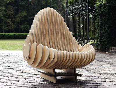 Created and conceptualized in 3D modeling software and later prototyped on 3D printing machines, the Terraform Chair is a unique piece of art and furniture inspired by the organic, flowing elements that make up everything Earth.