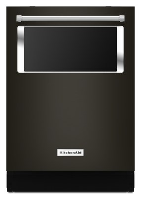 44 dBA Dishwasher with Window and Lighted Interior, Black Stainless Finish