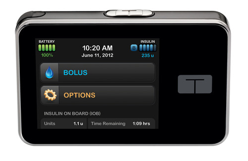 the t:slim Insulin Pump's vivid color touch screen is the window to an easy-to-use interface that places ...