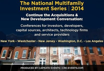 The Second Annual New York Summer Apartment Summit, part of The National Multifamily Investment Series, produced by CRE, will bring together all of NYC's multifamily executives under one roof, including 400+ commercial real estate investors, debt sources, equity sources, developers and service providers who seek new opportunities and new business relationships. (PRNewsFoto/CAPRATE Events, LLC)
