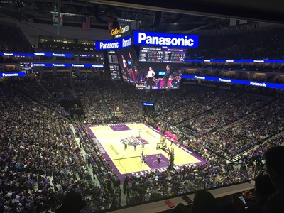 Utilizing the latest in LED technology, Panasonic installed over 13,000 square feet of LED video, totaling over 33 million individual LED pixels across Golden 1 Center.