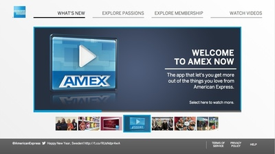 "American Express and its interactive TV app called ""Amex NOW"" are included in the initial trial deployment by Cablevision of the ActiveVideo CloudTV(TM) AdCast software platform that brings interactive TV ads to any pay-TV set-top box."