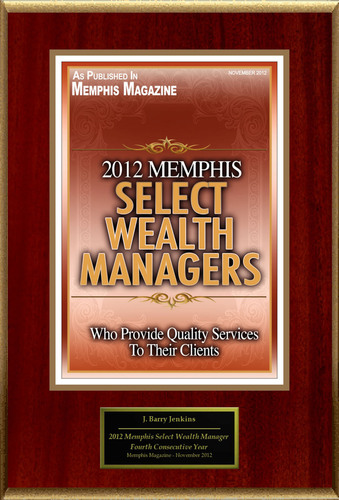 "J. Barry Jenkins Selected For ""2012 Memphis Select Wealth Managers"".  (PRNewsFoto/American Registry)"