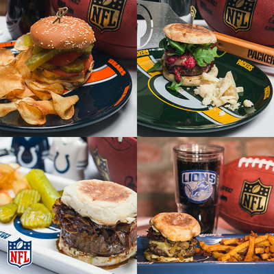 "Angie Mar, Chopped ""Grill Masters"" Champion, NFL Homegating ""Burger Maestro,"" and Chef and Owner of New York's celebrated Beatrice Inn, has created 32 diverse and delicious burger recipes, inspired by each NFL market, for fans across the country to cook and enjoy with their friends and family on game day."