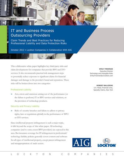 Business Process Outsourcing Firms Face New Risks, Sharper Contract Battles