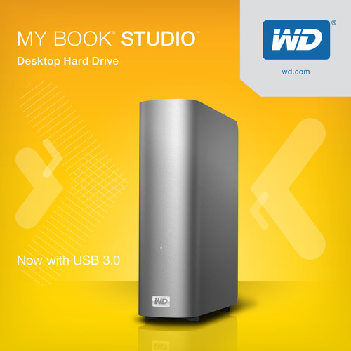 WD(R) Offers Mac Users USB 3.0 Connectivity With New My Book(R) Studio(TM) External Hard Drive.  (PRNewsFoto/WD)