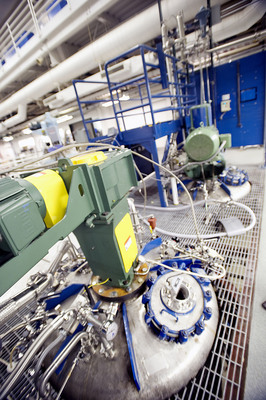The fermentation tanks where economical production of Genomatica's bio-based BDO was first proven.  Source, MBI.  (PRNewsFoto/Genomatica)