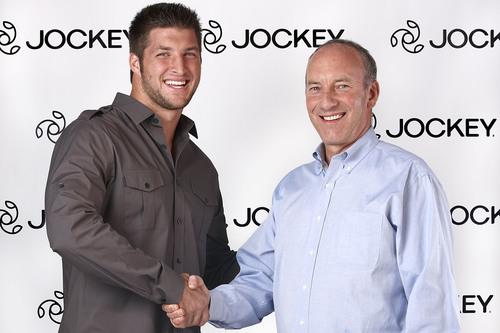 Pro Football Quarterback Tim Tebow Signs with Jockey