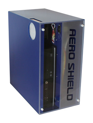 AeroShield(TM) removes airborne pathogens, preventing cross-contamination while extending the life of the electronics. Developed for the healthcare market, AeroShield(TM) is the world's first infection control enclosure for electronics. (PRNewsFoto/Seal Shield LLC) (PRNewsFoto/SEAL SHIELD LLC)