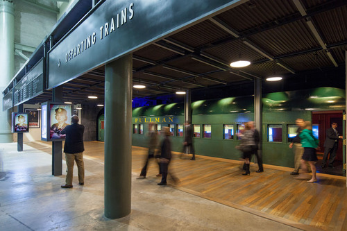 "The new ""Train Car Experience"" at The National WWII Museum includes a replica Pullman car and ..."