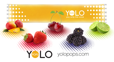 A blend of the finest premium ingredients ensures that YOLO Pops are crisp, refreshing, and delicious. YOLO Pops are available in alcohol and non-alcohol versions with enticing flavors such as Mango Martini, Blue Tropical, Citrus Mint, Mango Cotton Candy, and Frozen Hot Chocolate to name a few. Custom flavors and wrappers can be created upon request via special order on the YOLO Pops website. For more information, please visit www.yolopops.com.