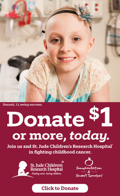 Souplantation and Sweet Tomatoes restaurant guests and others are invited to support the St. Jude Children's Research Hospital campaign.  Joining the effort can be done in the restaurants or online.