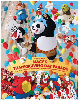 84th Annual Macy's Thanksgiving Day Parade returns to kick-off the holiday season on Thursday, November 25, 2010.  (PRNewsFoto/Macy's)