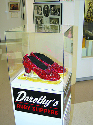 """Are the Stolen Ruby Slippers shimmering in nearby Mine-Pit? Witness live search at 40th """"Wizard of Oz"""" Festival June 10-13."""