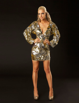 Mac Duggal Sequined Kimono Sleeve Dress - Style 3600T.  (PRNewsFoto/Mac Duggal, LLC)
