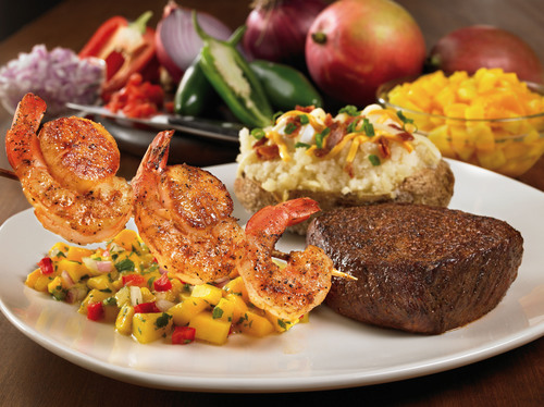 Outback Steakhouse(R) Brightens up a Dreary Winter With the Fresh Flavors of its New Sirloin & Seafood Mixed Grill.  (PRNewsFoto/Outback Steakhouse)