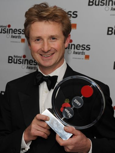 Tristram Mayhew, Founder of Go Ape at the National Business Awards (PRNewsFoto/National Business Awards)