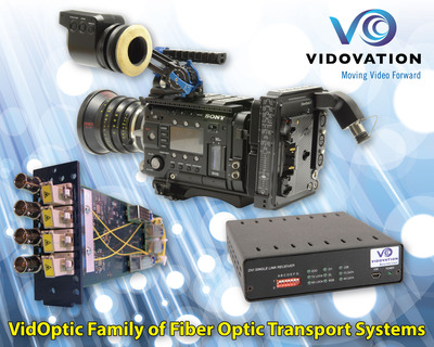 VidOvation VidOptic Fiber Optic Product Family.  (PRNewsFoto/VidOvation)