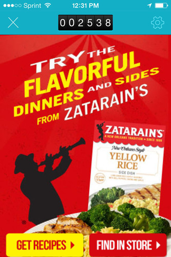 Zatarain's Joins inMarket Mobile to Mortar™ Platform, Becomes World's First CPG Brand Using Beacon