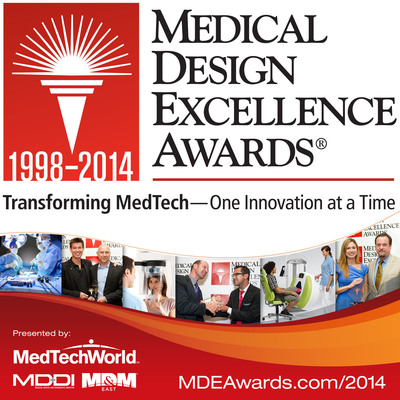 """Call for Entries - 2014 Medical Design Excellence Awards Competition Now Accepting Entries Worldwide in Eleven MedTech Categories. Go for the Gold! Enter Today!"" (PRNewsFoto/UBM Canon)"