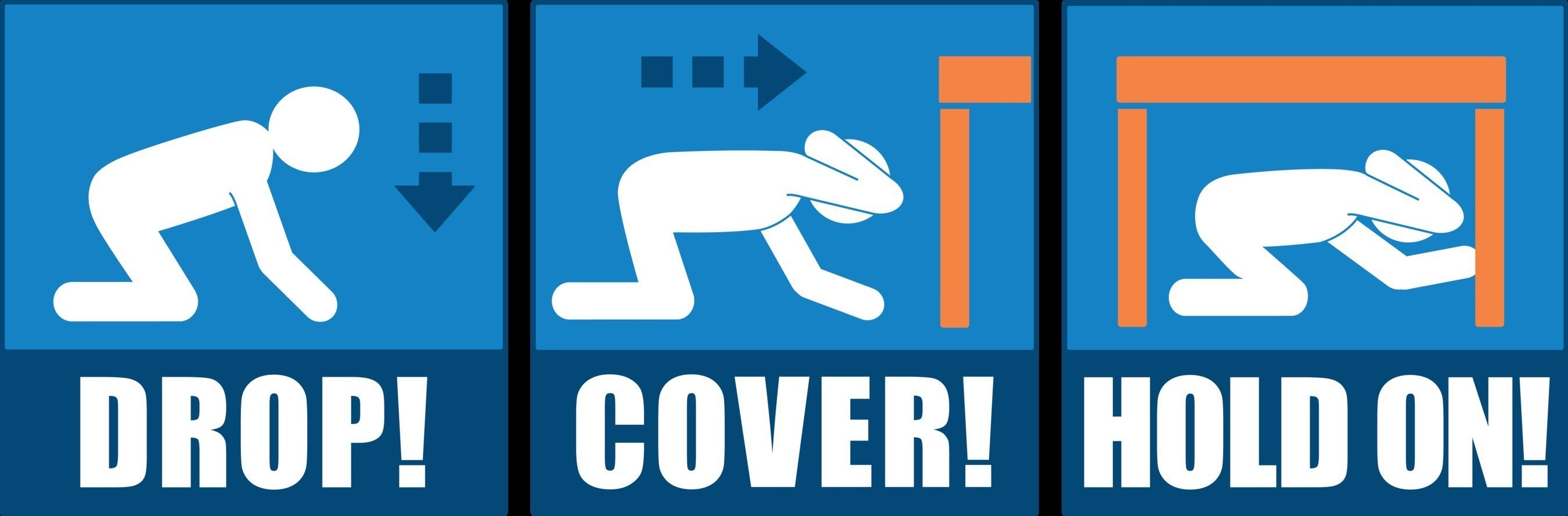 Great ShakeOut Earthquake Drills / Drop, Cover, and Hold On image