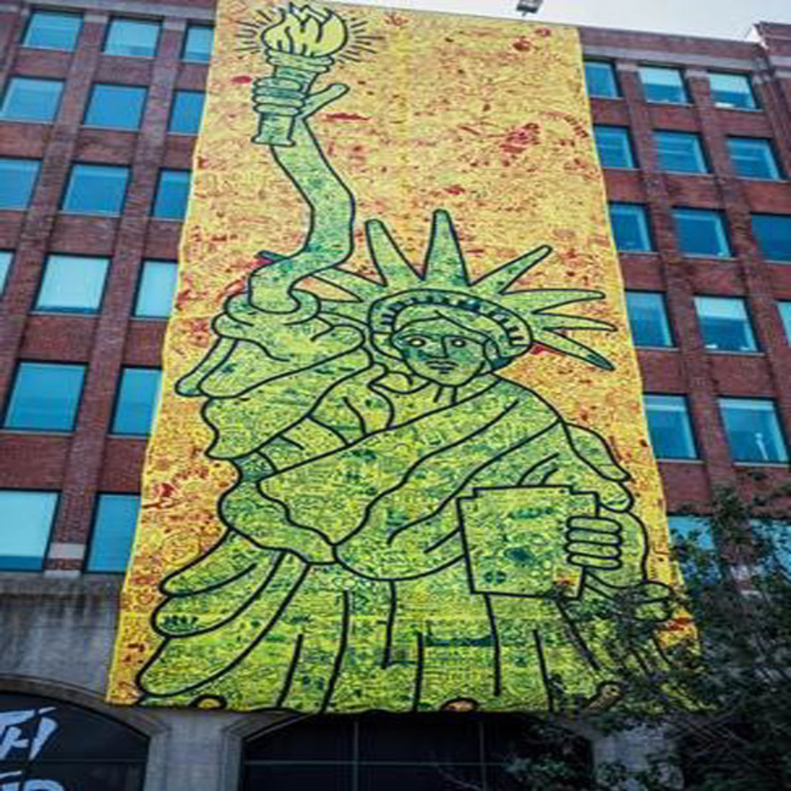 "Keith Haring's ""CityKids Speak on Liberty Banner"""