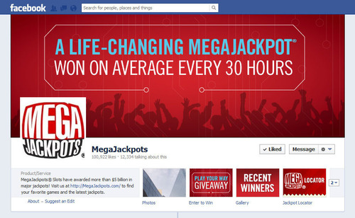 More than 100,000 Fans Flock to IGT MegaJackpots(R) Facebook Page.  (PRNewsFoto/IGT)