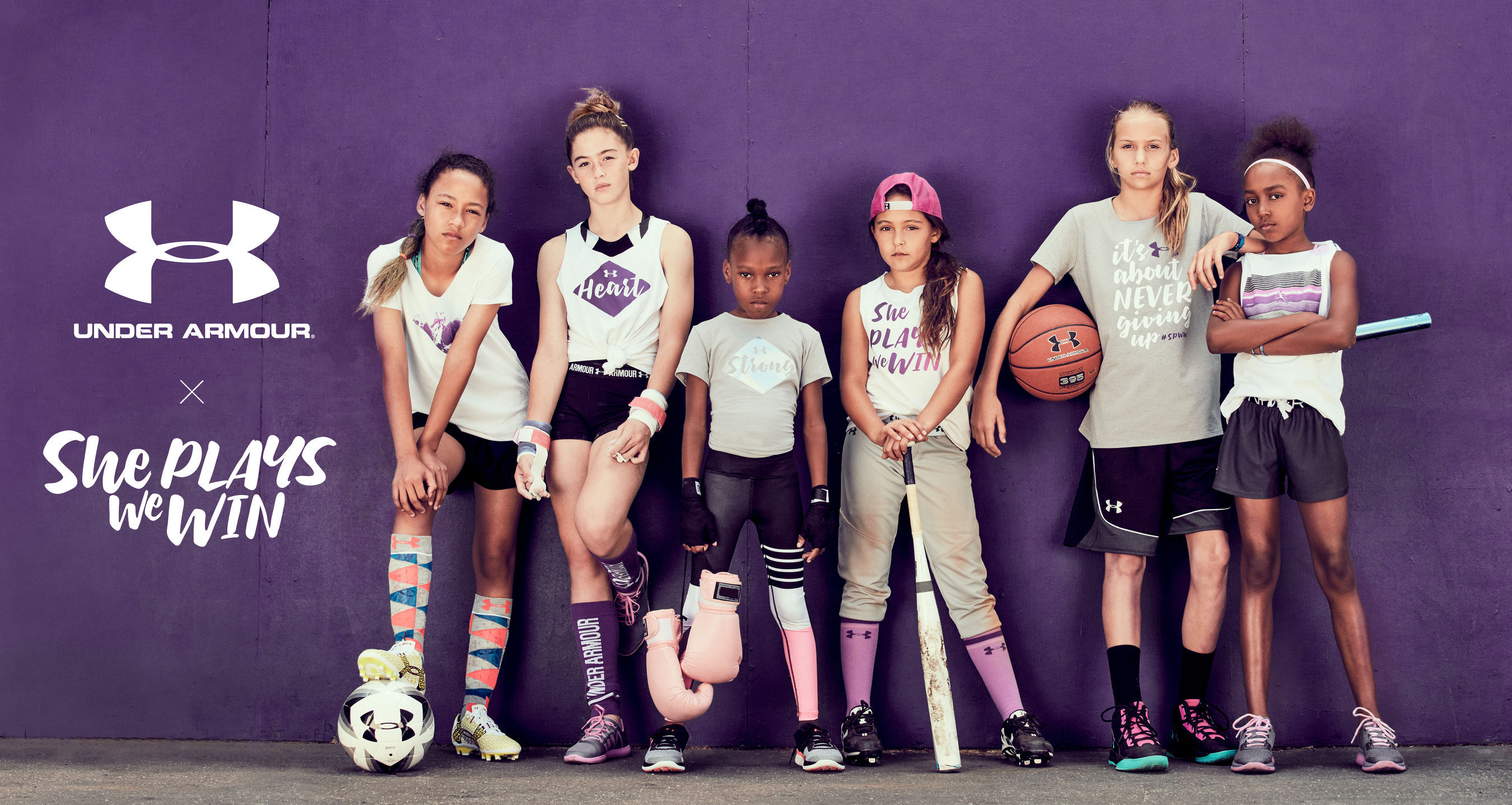 "Under Armour Announces Partnership With ""She Plays We Win"" Initiative To Promote Young Girls In Sport"