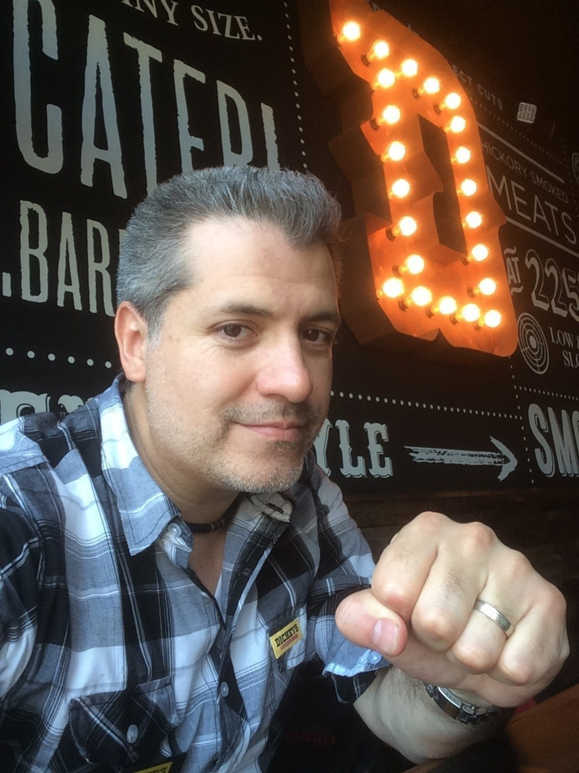Owner/Operator Emmanuel Herrera opens the newest Dickey's Barbecue Pit in San Antonio on Thursday