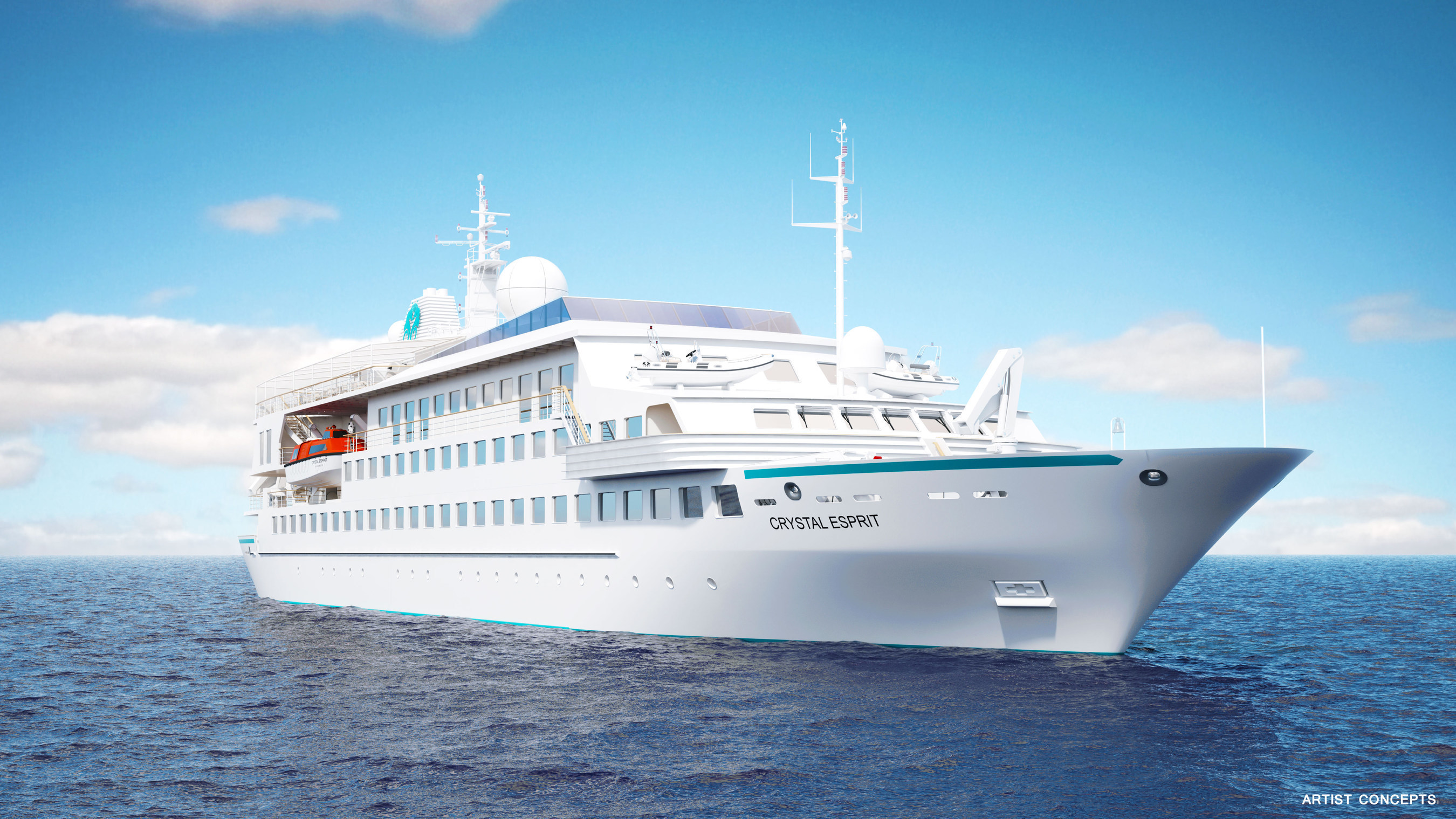 Crystal Esprit will embark on its maiden voyage December 23, 2015, as the first expansion of the Crystal Cruises fleet. Sailing regional, warm-water itineraries of seven days, the all-inclusive yacht will offer intimate, exclusive and immersive experiences with a boutique ambiance and thrilling adventures on water and ashore.