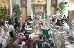 Prince Alwaleed Heads Press Conference in the Presence of Prince Khaled Bin Alwaleed & Princess Reem Bint Alwaleed