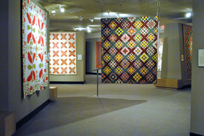 """Image of """"Civil War Period Quilts"""" exhibit, currently running at the National Quilt Museum.  (PRNewsFoto/National Quilt Museum)"""