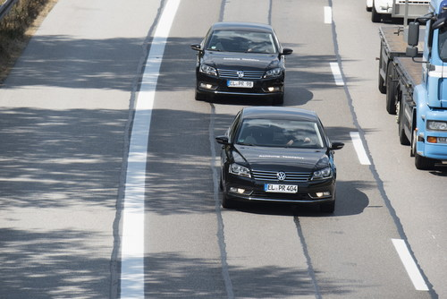 "Continental, Deutsche Telekom, Fraunhofer ESK, and Nokia Networks Show First Safety Applications at ""digital A9 motorway test bed."" Editorial use only in direct correlation with Deutsche Telekom AG. (PRNewsFoto/Nokia Networks) (PRNewsFoto/Nokia Networks)"