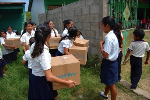 Dole Corp. and BANASA deliver water filters to seven schools in municipality of Ocos, department of San Marcos,  ...