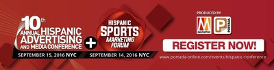 Join us as we celebrate 10 years of excellence on Sept. 15 at the 10th Annual Hispanic Advertising and Media Conference, the pre-eminent event for Hispanic and Multicultural marketers will be preceded by the Hispanic Sports Marketing Forum on Sept.14. MediaPost and Portada are renowned for connecting the best minds in multicultural marketing, media and tech to discuss the latest trends and changes in the marketplace.