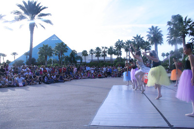 Galveston Ballet performs opening day at Moody Gardens Festival of Lights in Galveston, TX.  (PRNewsFoto/Moody Gardens)