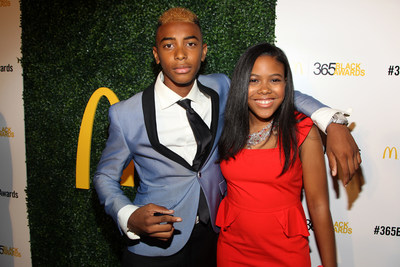 "NEW ORLEANS - (July 5, 2014) – World-renowned teen artist Skyler Grey and young entrepreneur Gabrielle Jordan Williams walked the golden carpet before accepting the first ever McDonald's 365Black ""Community Choice Youth"" Award. The 11th annual ceremony, held at the New Orleans Theater, took place July 5. McDonald's 365Black Awards are given annually to salute outstanding individuals who are committed to making positive contributions that strengthen the African-American community."