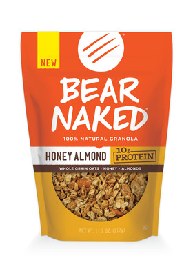Bear Naked One Ups The Granola Scene With Debut of Honey Almond Protein Flavor. (PRNewsFoto/Bear Naked) (PRNewsFoto/BEAR NAKED)