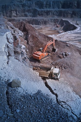 The service life time of mining or recycling equipment is longer thanks to excellent mechanical properties of Raex. (PRNewsFoto/RUKKII)